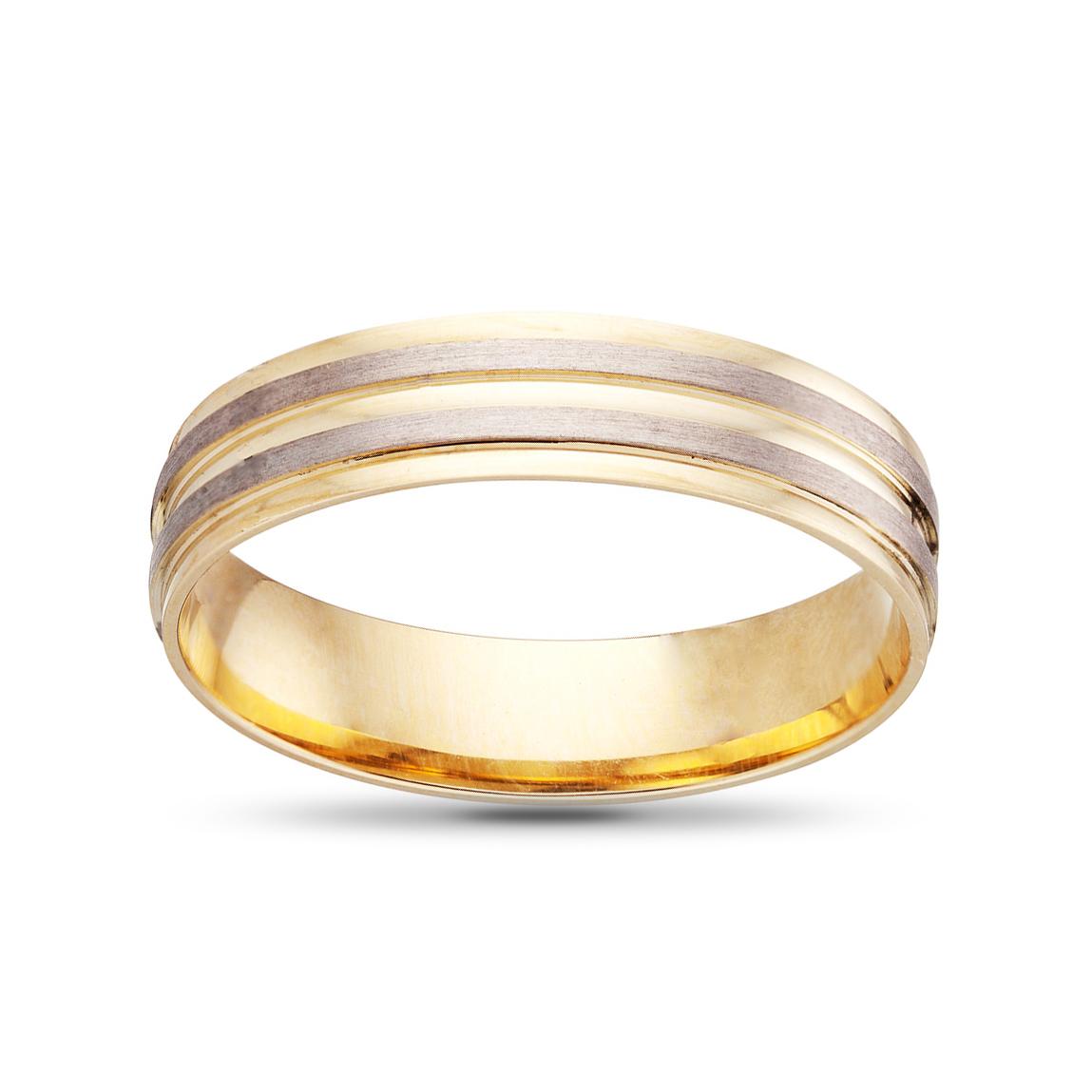 Кольцо обручальное из золота, синтеринг , 5мм