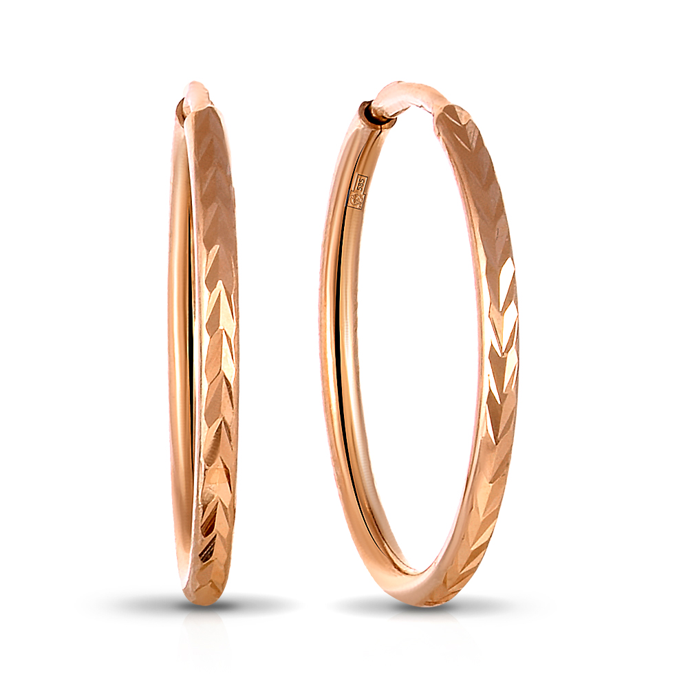 1d3857600b26 Серьги-конго из золота — Ювелирный интернет-магазин 585 Золотой.