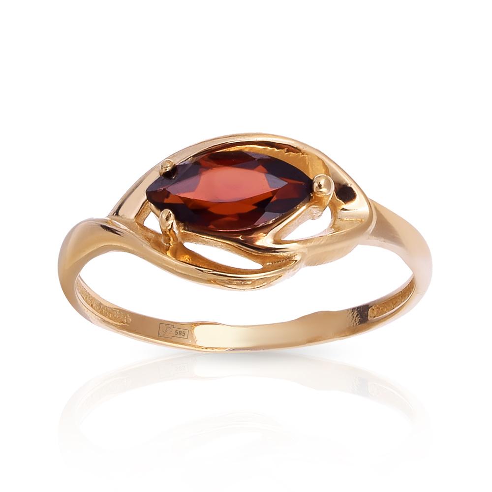 Кольцо с гранатом из золота