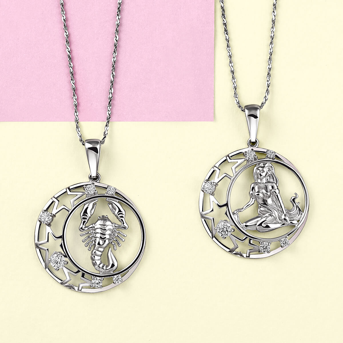 Подвеска SOKOLOV из серебра с фианитами, знак зодиака Скорпион