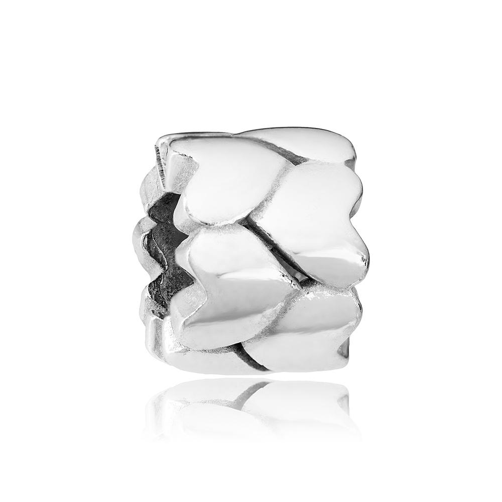 Подвеска-шарм Сердца из серебра