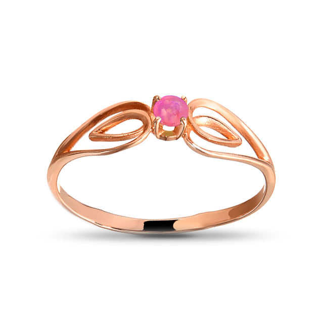 Кольцо с рубином из золота