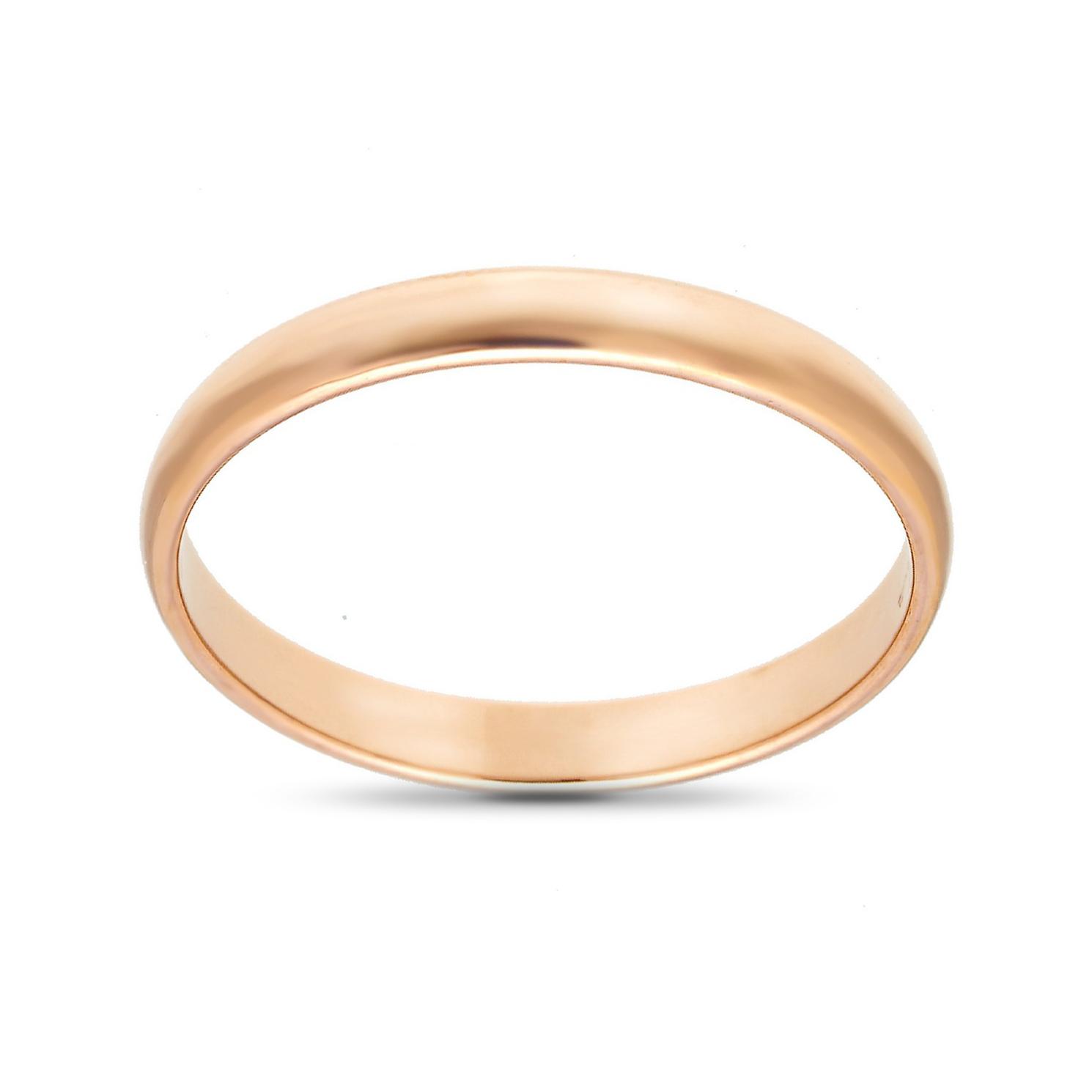 Кольцо обручальное из золота, 2.5 мм