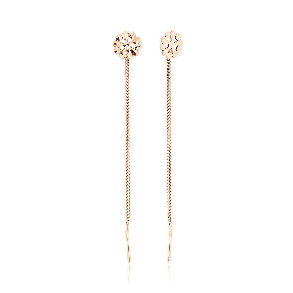 Серьги-продевки с алмазной гранью