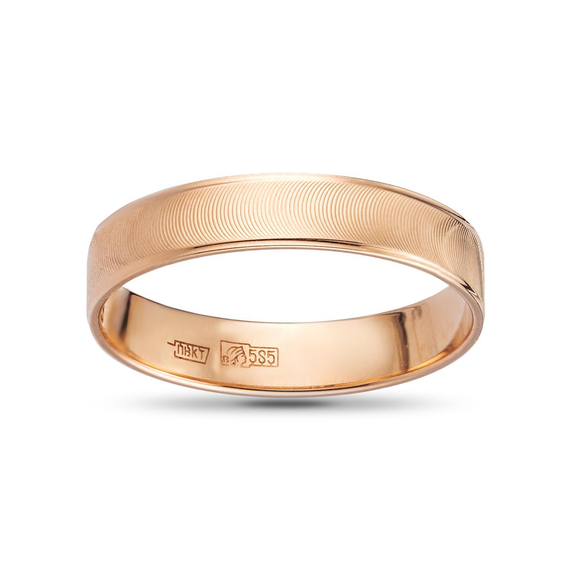 Кольцо обручальное из золота, премиум