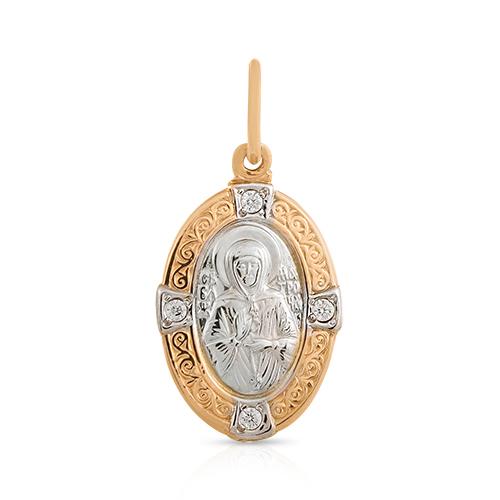 Подвес-икона Святая Матрона с фианитами