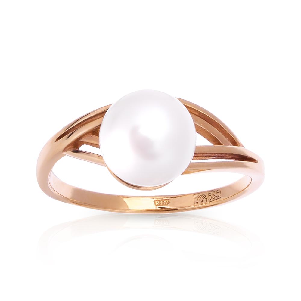 Кольцо с белым жемчугом