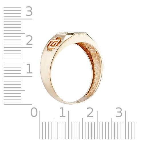Кольцо-печатка с родированием