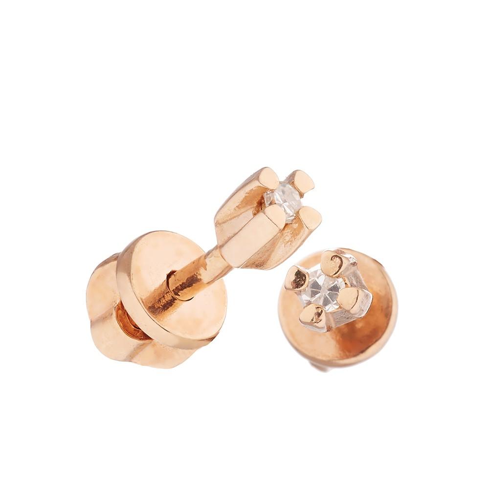 Серьги-пусеты с бриллиантом