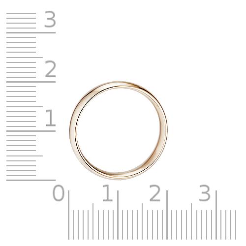 Кольцо обручальное гладкое, 5 мм