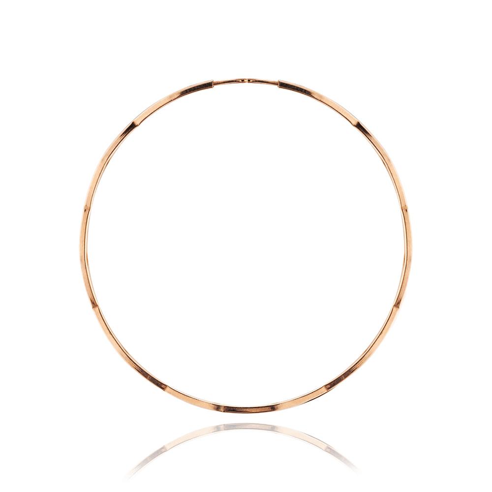 Серьги-конго с алмазной гранью, 5 см
