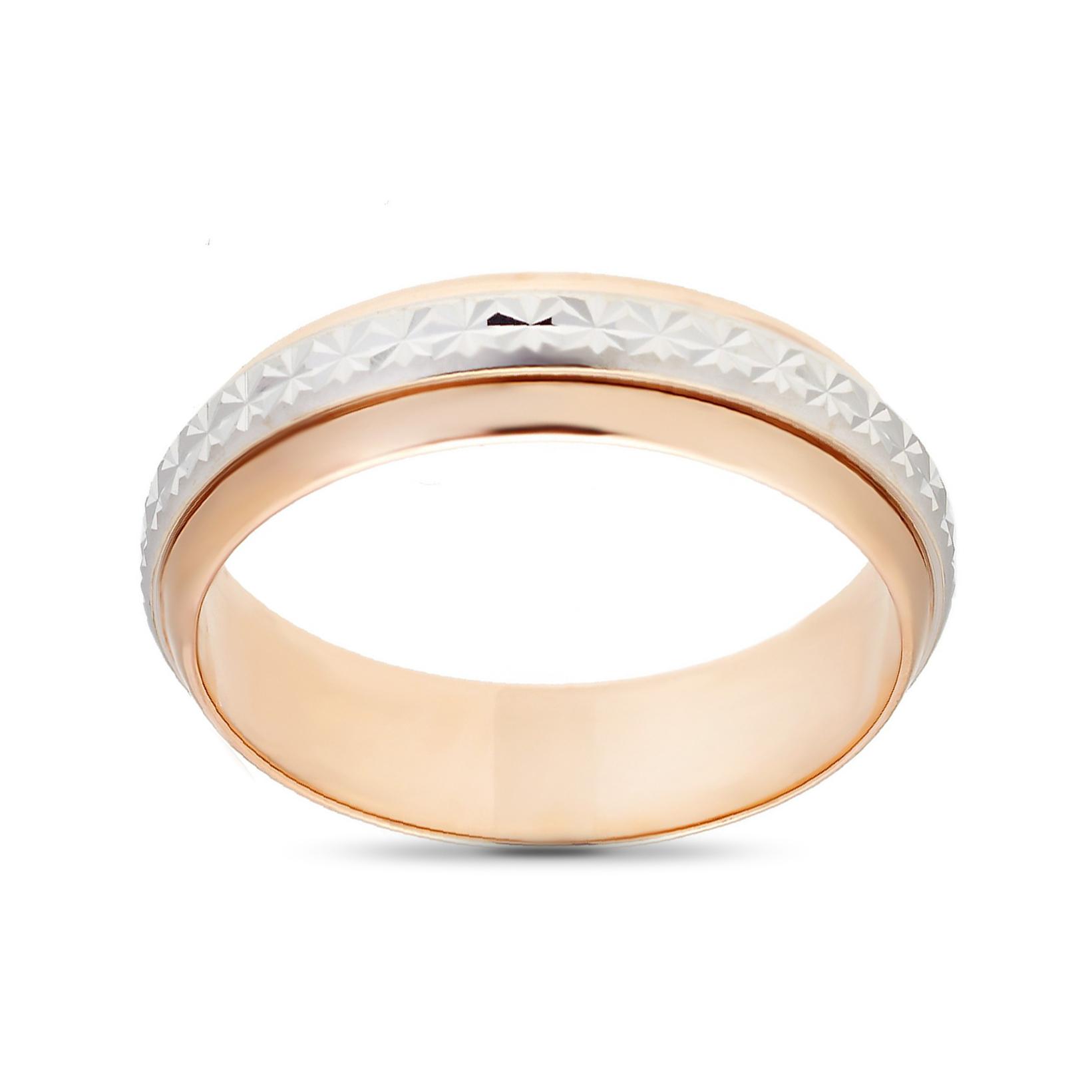 Кольцо обручальное с вращающейся вставкой из золота, 5 мм
