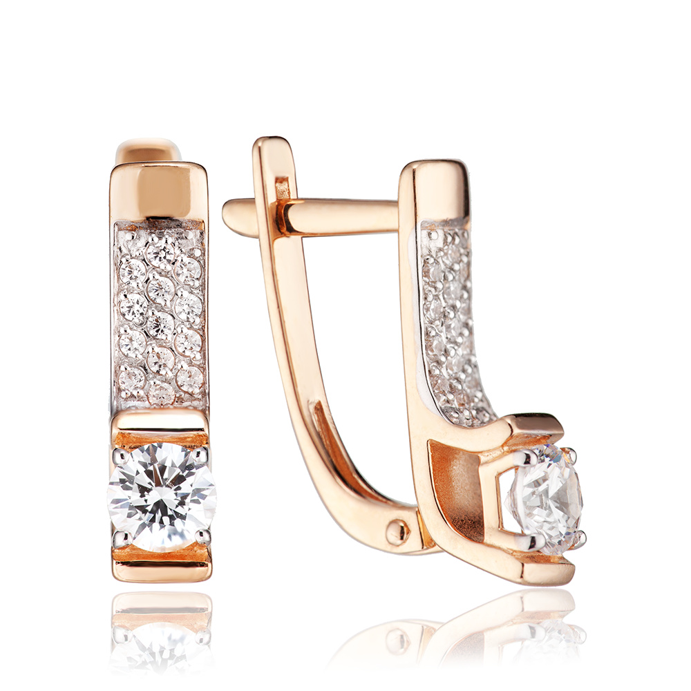 Серьги из золота с кристаллами SWAROVSKI