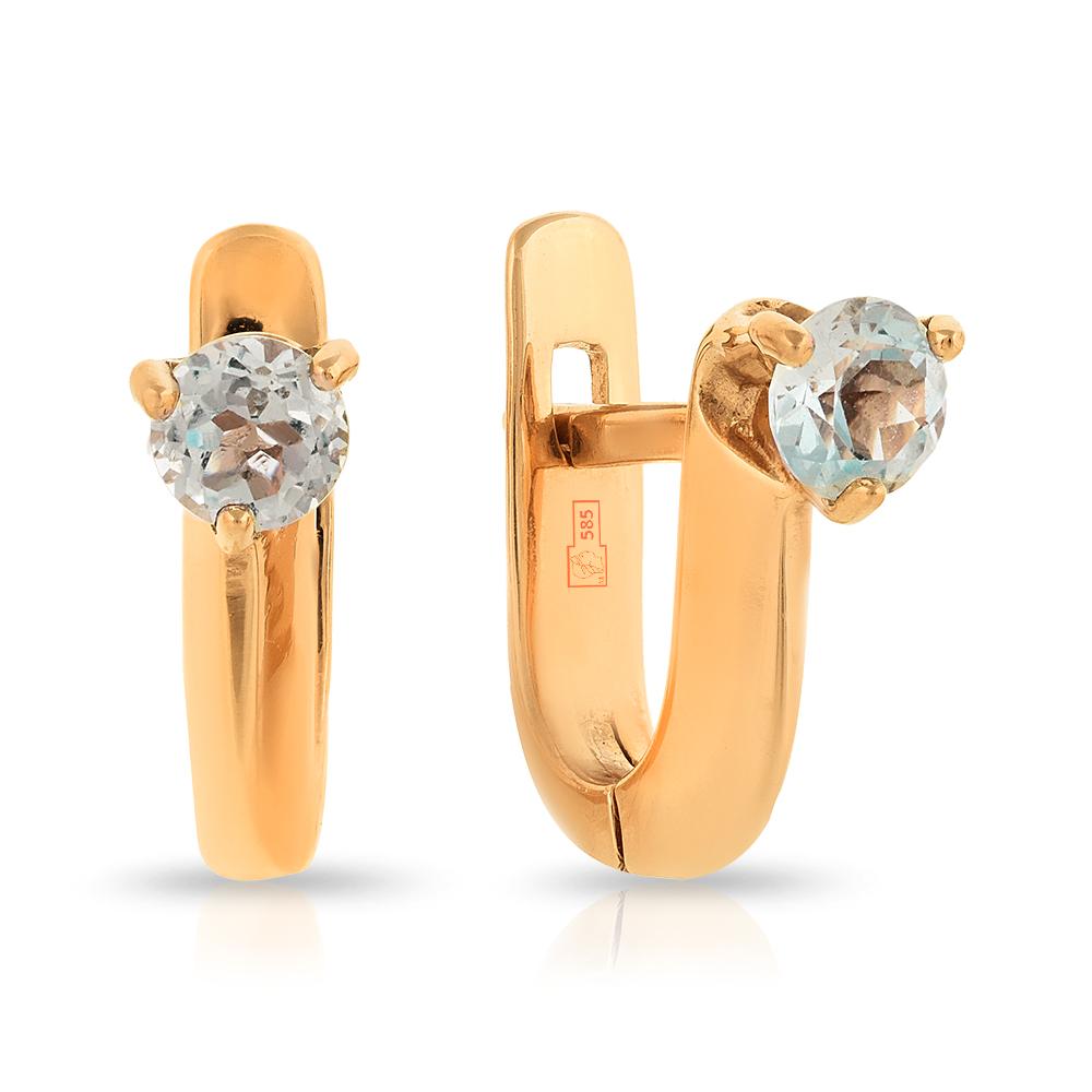a70bfea08a9f Серьги из золота с топазом — Ювелирный интернет-магазин 585 Золотой.