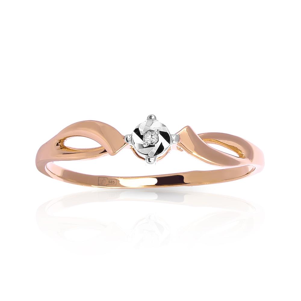 Кольцо с бриллиантом из золота