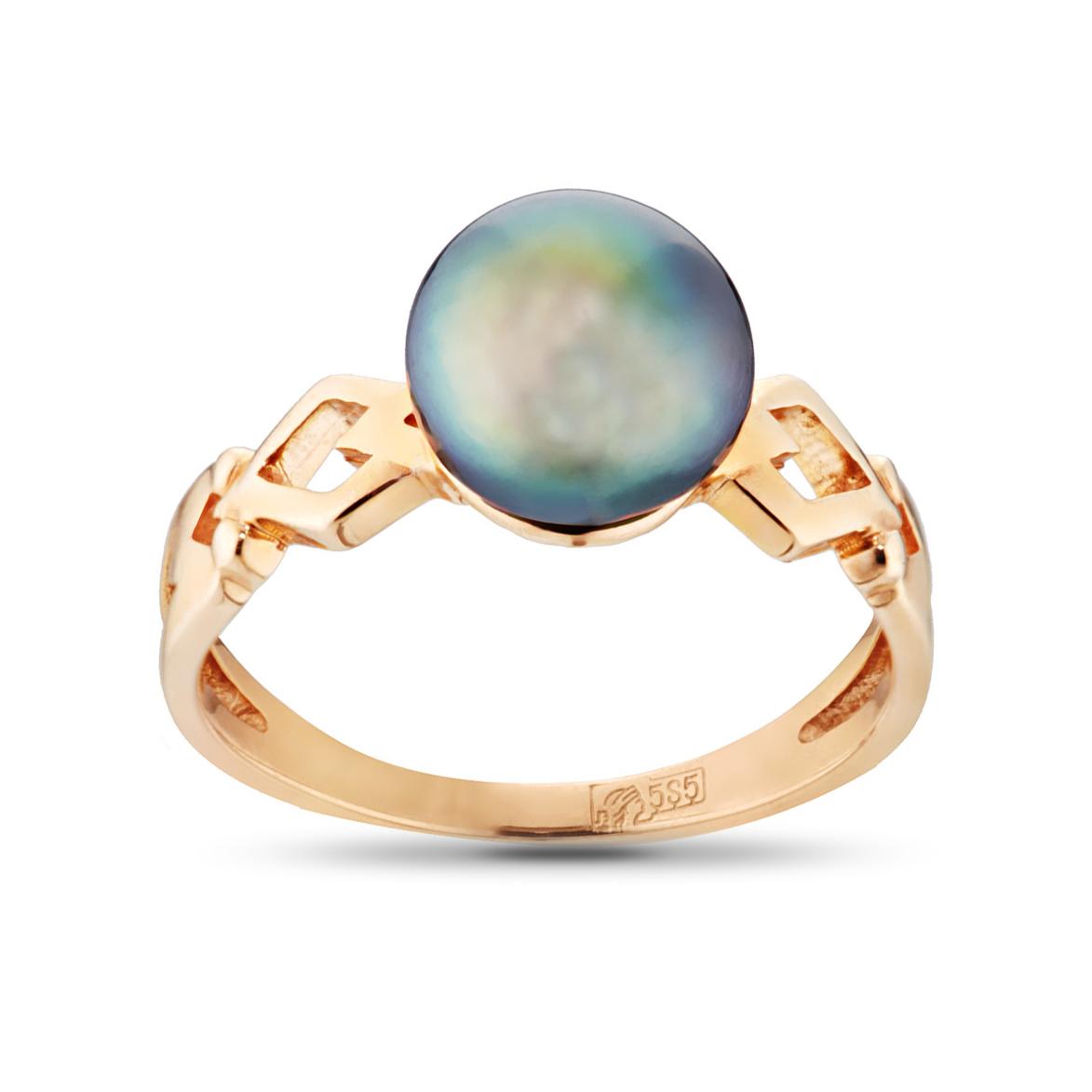 Кольцо с жемчугом из золота