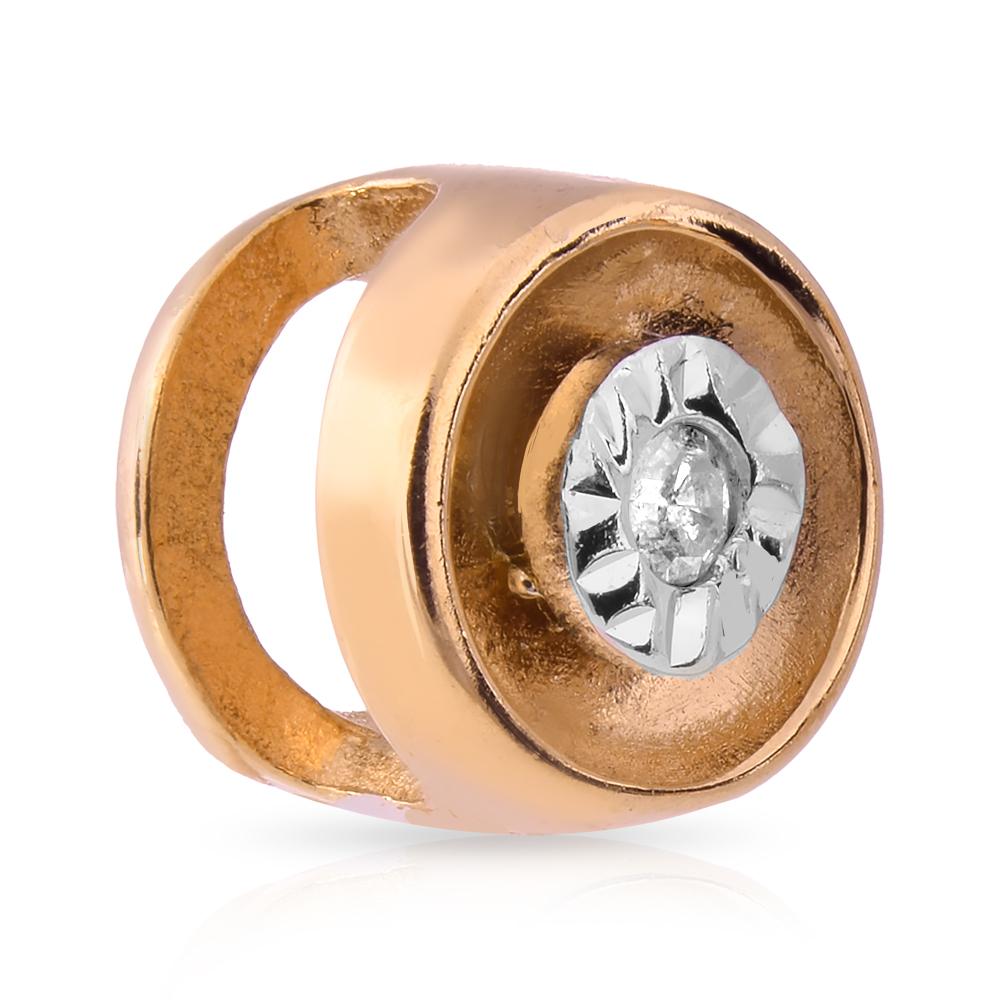 Подвеска с бриллиантом из золота