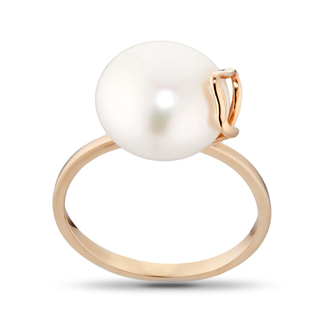 Кольцо из золота с жемчугом