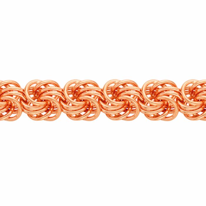 Браслет, плетение Розочка, 5 мм