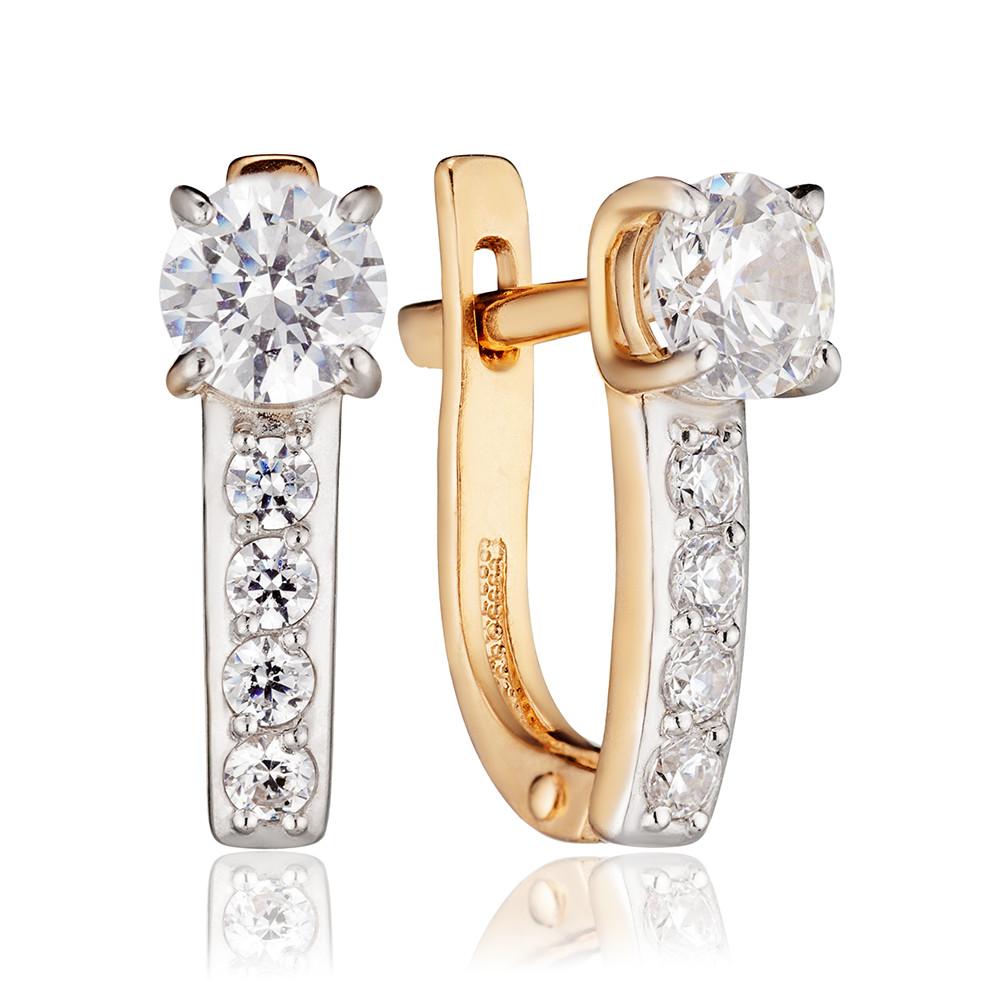 Серьги с кристаллами SWAROVSKI из золота