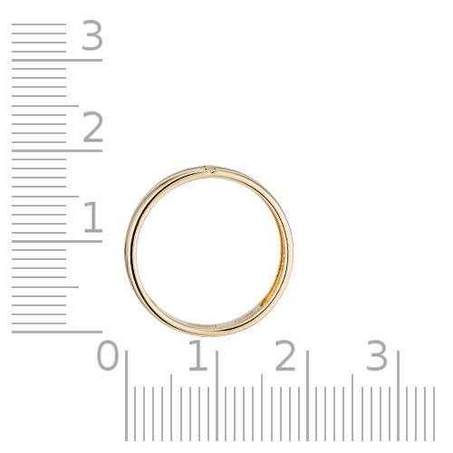 Кольцо обручальное с бриллиантом и родированием