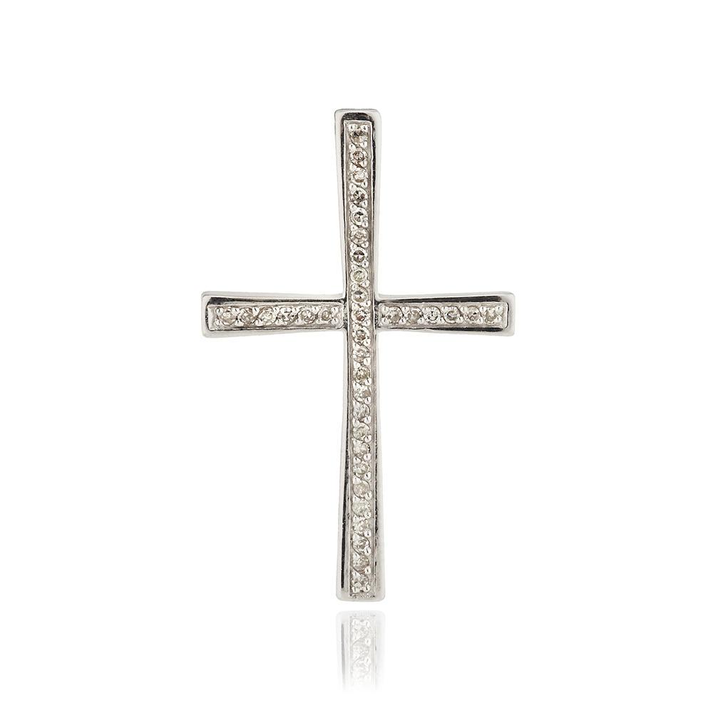 Подвеска-крест с бриллиантами