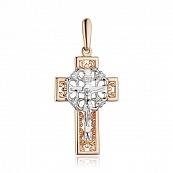 Крест с бриллиантами и родированием